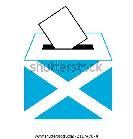 vote label (vote symbol, vote icon, ballot box, hand put a voting ballot in a slot of box), Vector, Illustration - stock vector