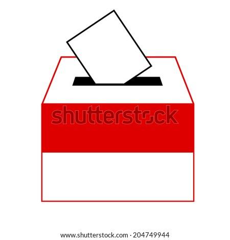 vote label (vote symbol, vote icon, ballot box, slot of box), Vector, Illustration - stock vector