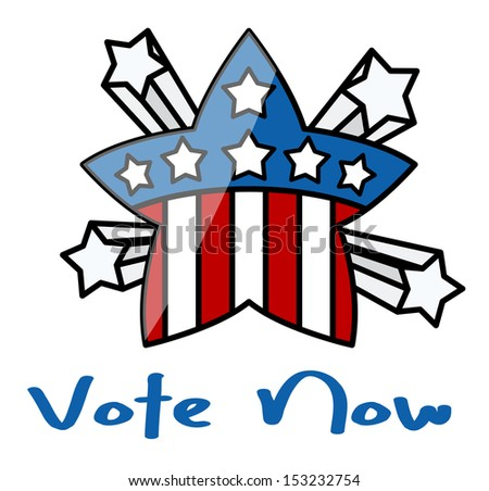 vote now - USA theme Star - Election Day Vector Illustration