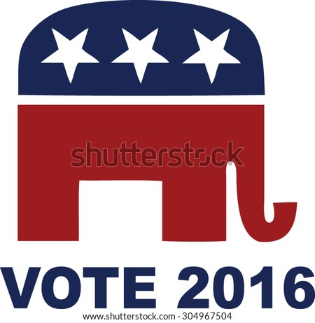vote 2016 rep - stock vector