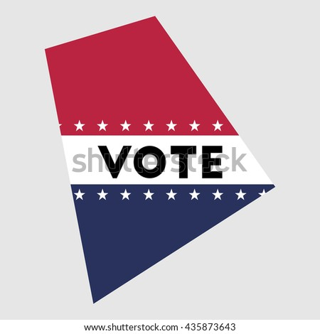 Vote Rhode Island state map outline. Patriotic design element to encourage voting in presidential election 2016. vote Rhode Island vector illustration.
