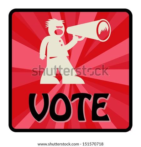 Vote sign, vector illustration - stock vector