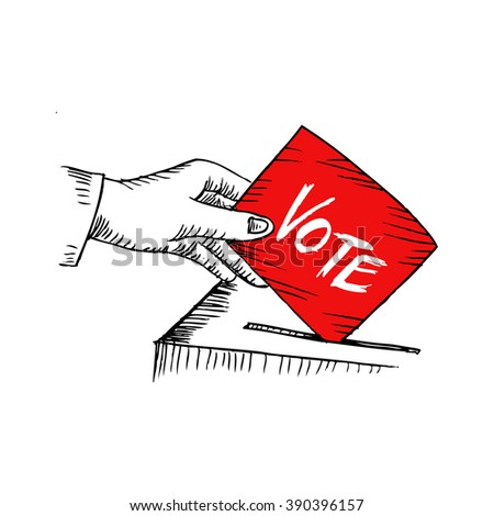 Vote. Sketchy style illustration