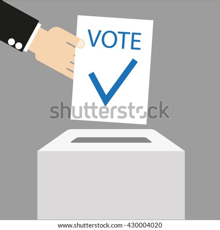 Vote vector illustration - stock vector