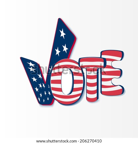 Vote with stars and stripes - stock vector