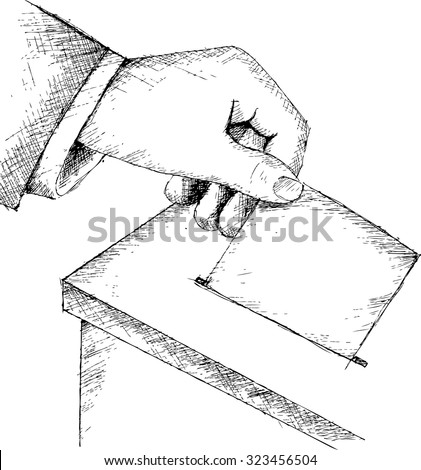 Voting at the Ballot Box, sketch