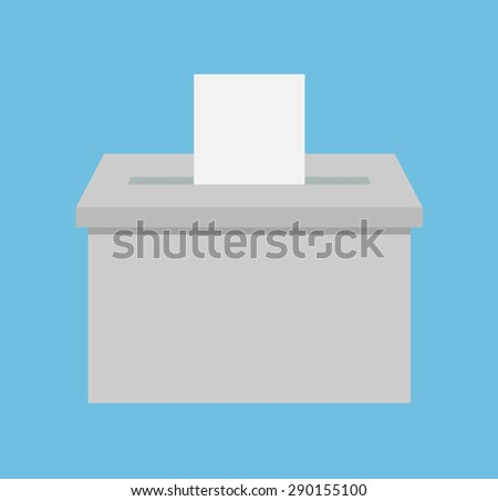 Voting box - Flat style - stock vector