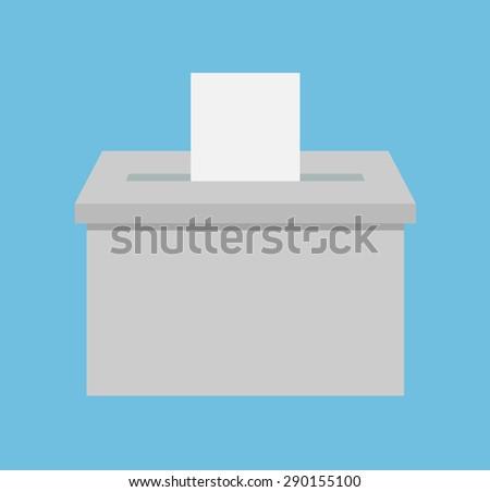 Voting box - Flat style - stock vector