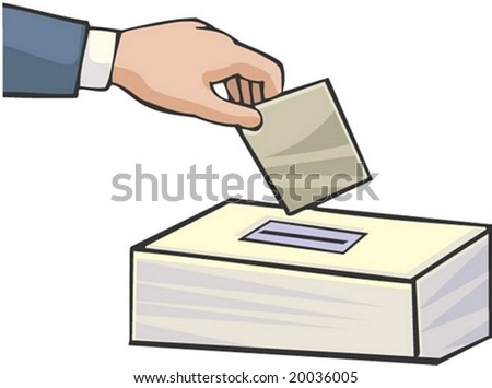 Voting Character - stock vector