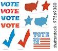 Voting design elements - stock vector
