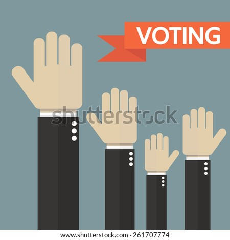 Voting elections results. Infographics elements. Vector - stock vector
