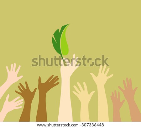 Voting for ecology - stock vector