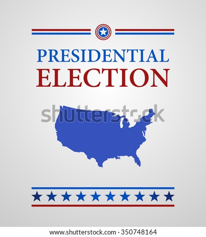 Voting Symbol presidential election - stock vector