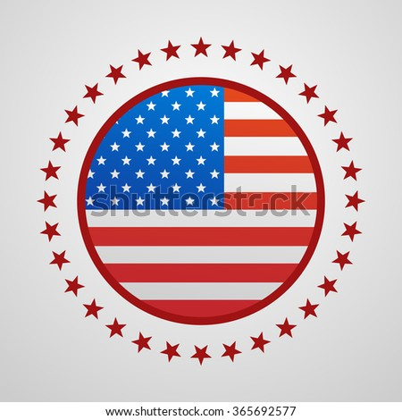 Voting Symbols design presidential election flag USA