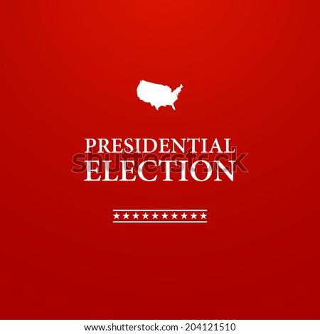 Voting Symbols vector design presidential election - stock vector