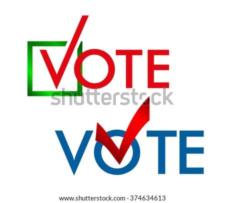 Voting Symbols Vector Design Template Elections Stock Vector Hd