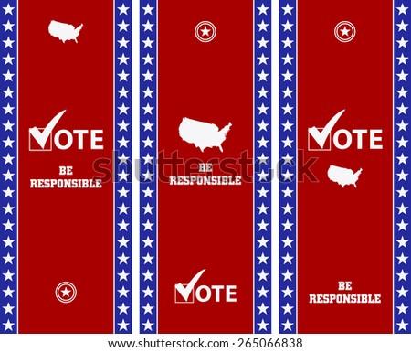 Voting Symbols vector set banner design - stock vector