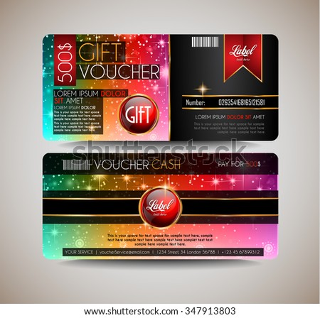 Voucher Gift Card Layout Template For Your Promotional Design, Tickets  Template, Printed Gift Cards  Design Tickets Template
