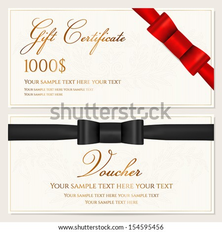 Voucher Gift Certificate Coupon Invitation Gift Vector – Sample Gift Card