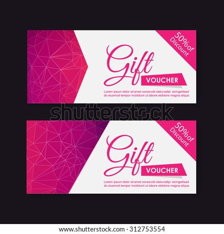 Voucher Gift Certificate Coupon Template Stock Vector 312314675