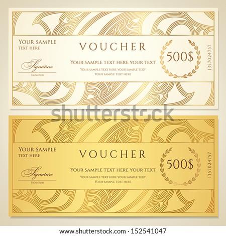 Gift Certificate Template Photos RoyaltyFree Images – Money Voucher Template