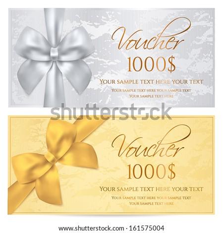 Gift Certificate Voucher Coupon Invitation Gift Vector – Money Voucher Template