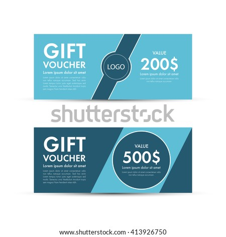 Coupon template stock images royalty free images for Gift certificate template with logo