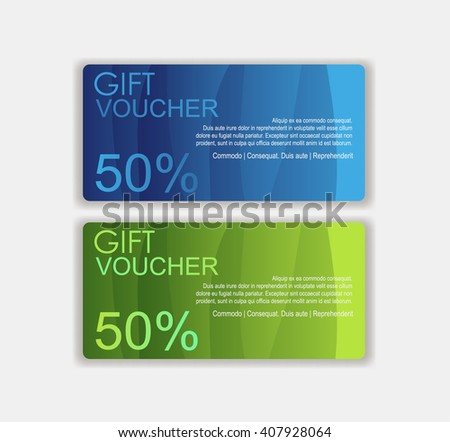 Voucher template. Gift sale voucher, certificate, coupon design. discount voucher to promote your business and advertising campaign