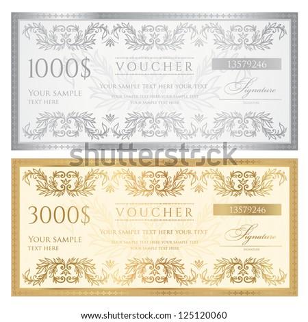 Golden Ticket Banco de im genes Fotos y vectores libres de – Ticket Voucher Template