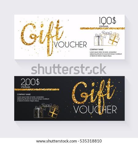 Gift Voucher Photos RoyaltyFree Images and Vectors – Money Voucher Template