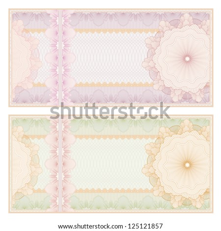 Blank bank note stock images royalty free images vectors voucher template with guilloche pattern watermarks and border this background usable for banknote pronofoot35fo Choice Image