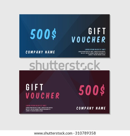 Gift Voucher Template Colorful Patterncute Gift Vector – Create a Voucher Template