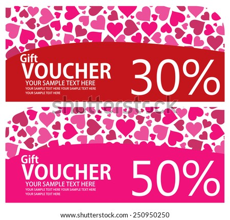 voucher valentines coupon gift certificate ticket template