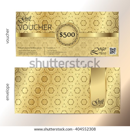 Gift Certificate Voucher Coupon Template Guilloche – Money Coupon Template