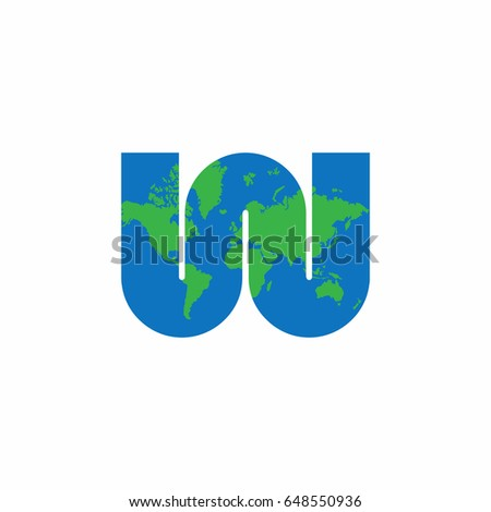 W letter world map logo stock vector 648550936 shutterstock w letter with world map logo gumiabroncs Images