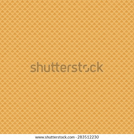 Wafer seamless texture background, eps 10 - stock vector