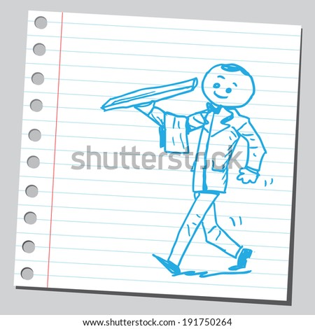 Waiter  - stock vector