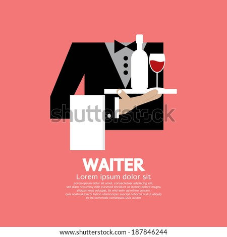 Waiter Vector Illustration - stock vector