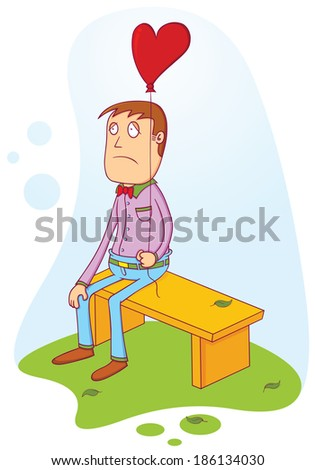 waiting for a true love - stock vector