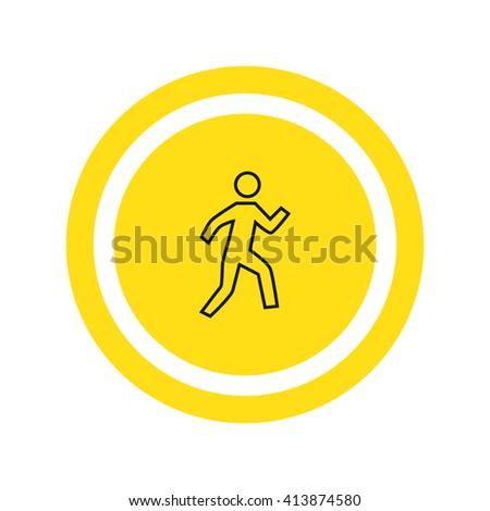 Walk Icon. Walk Icon Vector. Walk Icon JPEG. Walk Icon Object. Walk Icon Picture. Walk Icon Image. Walk Icon Graphic. Walk Icon Art. Walk Icon JPG. Walk Icon EPS. Walk Icon AI. Walk Icon Drawing - stock vector