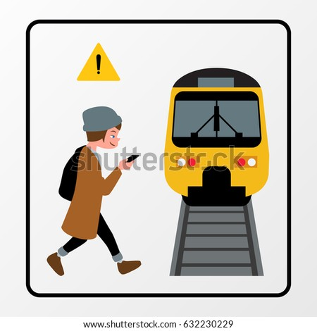 walk safely without accident car train stock vector hd royalty free rh shutterstock com School Bus Crash in Columbia South Carolina School Bus Handicap Lift