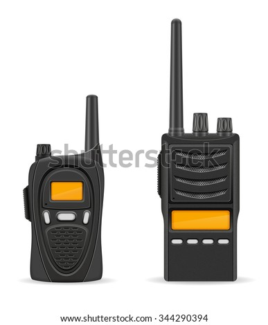 walkie-talkie communication radio vector illustration isolated on white background - stock vector
