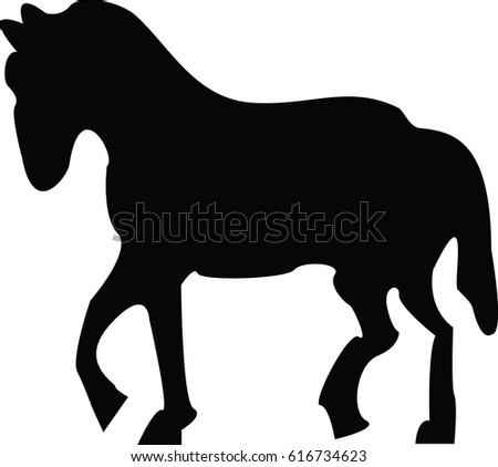 Horse Walking Stock Vectors, Images & Vector Art | Shutterstock