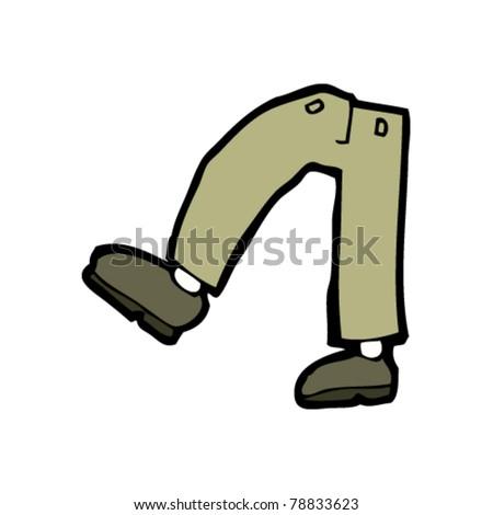 Walking Legs Cartoon Stock Vector 78065428 Shutterstock