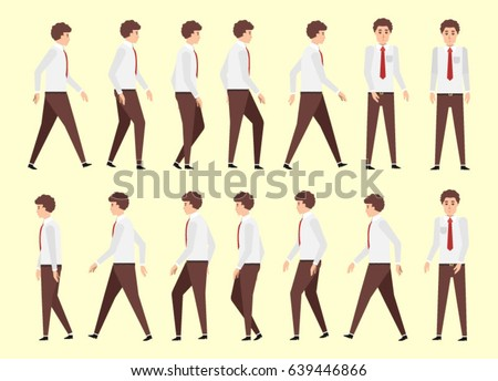 Walking Man Animation 14 Frame Sequence Stock Vector 639446866 ...