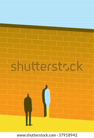 wall - stock vector