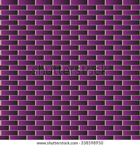Wall block pattern orange gradient vector illustration for design background.
