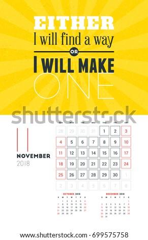 calendar background november 2018