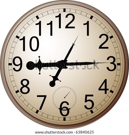 Wall clock - stock vector