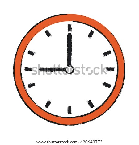 wall clock icon image stock vector 620649773 shutterstock rh shutterstock com Digital Clock Numbers Alarm Clock Clip Art